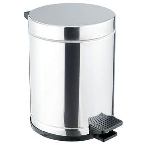 Lixeira de Banheiro Chão 4,5L Inox Prata Viel