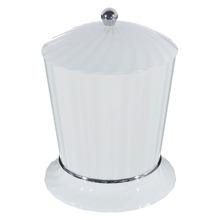Lixeira de Banheiro Chão 4L Plástico Branca Stamplas