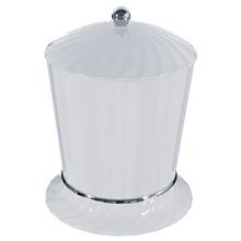 Lixeira de Banheiro Chão 4L Plástico Cinza Stamplas