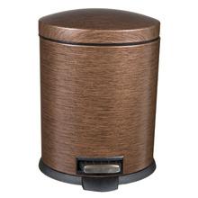 Lixeira de Banheiro Chão 5 Aço Bronze Importado