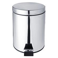 Lixeira de Banheiro Chão 5 Inox Prata Importado