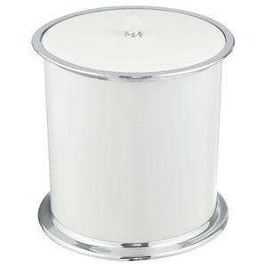 Lixeira de Banheiro Chão 5L ABS Branca Roma RF Brasil