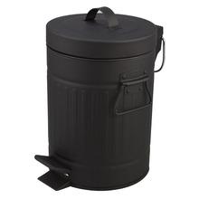 Lixeira de Banheiro Chão 5L Ferro Preto Importado