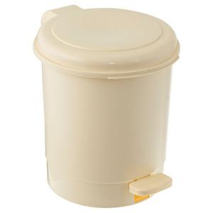Lixeira de Banheiro Chão 5L Plástico Bege Pavão