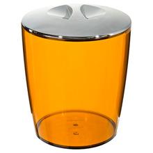 Lixeira de Banheiro Chão 5L Plástico - San Ambar Cromo Martiplast