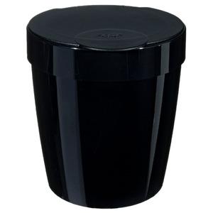 Lixeira de Banheiro Chão 5L Plástico - San Preta Vitra Martiplast