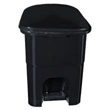 Lixeira de Banheiro Chão 6L Plástico Preta Pedal Primafer