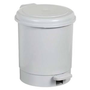 Lixeira de Banheiro com Pedal Chão Plástico 5L Cinza 24x24,5x17,5cm Pavão