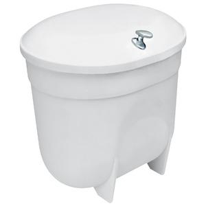 Lixeira de Banheiro com Tampa Chão Plástico 4L Branco 23x21x19,5 Expambox