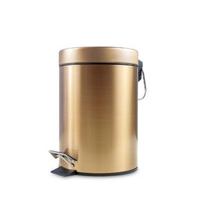 Lixeira de Banheiro Metal 3L Bronze Pedal