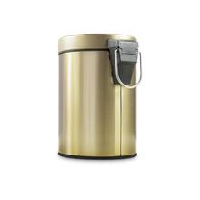 Lixeira de Banheiro Metal 3L Champagne Gold  Pedal