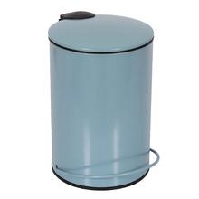 Lixeira de Banheiro Metal Azul Claro Icone 3L Pedal