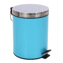 Lixeira de Banheiro Metal Azul Happy 5L Pedal