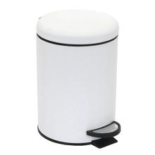 Lixeira de Banheiro Metal Branca 3L Powder Pedal