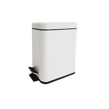 Lixeira de Banheiro Metal Branca 5L Slim Pedal