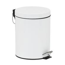 Lixeira de Banheiro Metal Branca Happy 5L Pedal