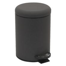 Lixeira de Banheiro Metal Cinza 3L Powder Pedal