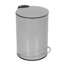 Lixeira de Banheiro Metal Cinza Icone 3L Pedal Soft Close