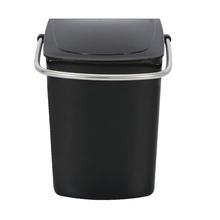 Lixeira de Banheiro Metal e Plástico 5L Alça