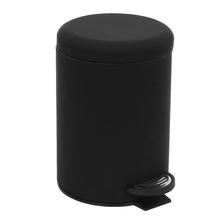 Lixeira de Banheiro Metal Preta 3L Powder Pedal