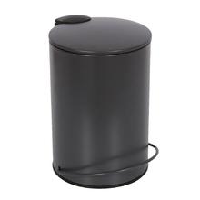 Lixeira de Banheiro Metal Preta Icone 3L Pedal