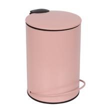 Lixeira de Banheiro Metal Rosa Icone 3L Pedal