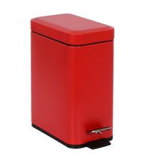 Lixeira de Banheiro Metal Vermelha 5L Slim Pedal