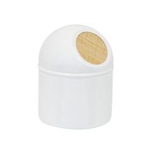 Lixeira de Banheiro Pia 3,2L Metal | Madeira Branca Scandi Sensea