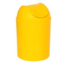 Lixeira de Banheiro Plástico Amarela 5L Basculante Arthi