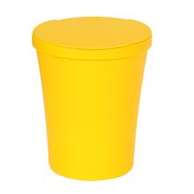 Lixeira de Banheiro Plástico Amarela  5L Manual