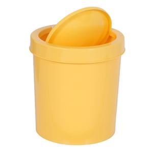 Lixeira de Banheiro Plástico Amarelo 4,3L  Basculante Primafer