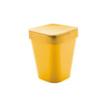 Lixeira de Banheiro Plástico Amarelo 5L Tampa
