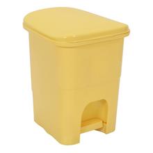 Lixeira de Banheiro Plástico Amarelo 6L Pedal Primafer