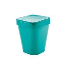 Lixeira de Banheiro Plástico Azul 5L Tampa
