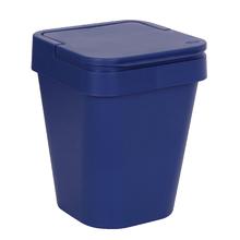 Lixeira de Banheiro Plástico Azul 5L Tampa Martiplast