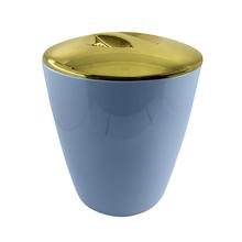 Lixeira de Banheiro Plástico Azul 5L Vitra Ou