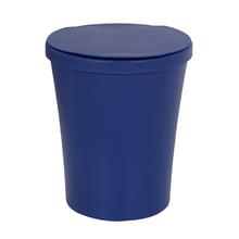 Lixeira de Banheiro Plástico Azul Indigo 5L Manual