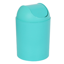 Lixeira de Banheiro Plástico Azul Tifany 5L Basculante