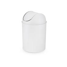Lixeira de Banheiro Plástico Branca 5L Basculante
