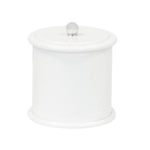 Lixeira de Banheiro Plástico Branco 5L Tampa