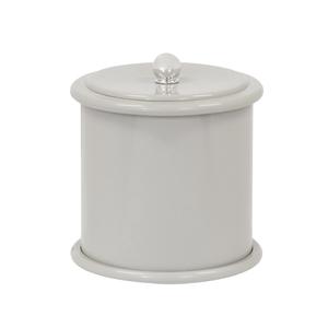 Lixeira de Banheiro Plástico Cinza 5L Tampa