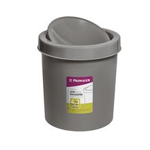 Lixeira de Banheiro Plástico Concreto 4,3L Basculante Primafer