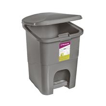 Lixeira de Banheiro Plástico Concreto 6L Pedal Primafer