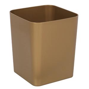 Lixeira de Banheiro Plástico Dourada 12L Casilla Brass Interdesign