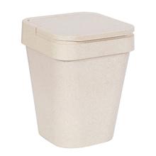 Lixeira de Banheiro Plástico Marfim 5L Tampa