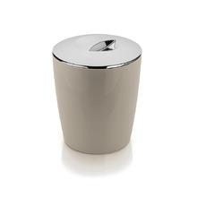 Lixeira de Banheiro Plástico New Belly Bege 5L Martiplast
