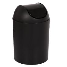 Lixeira de Banheiro Plástico Preta 5L Basculante Arthi