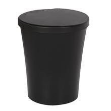 Lixeira de Banheiro Plástico Preta 5L Tampa