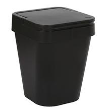 Lixeira de Banheiro Plástico Preto 5L Tampa Martiplast