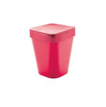 Lixeira de Banheiro Plástico Rosa 5L Tampa